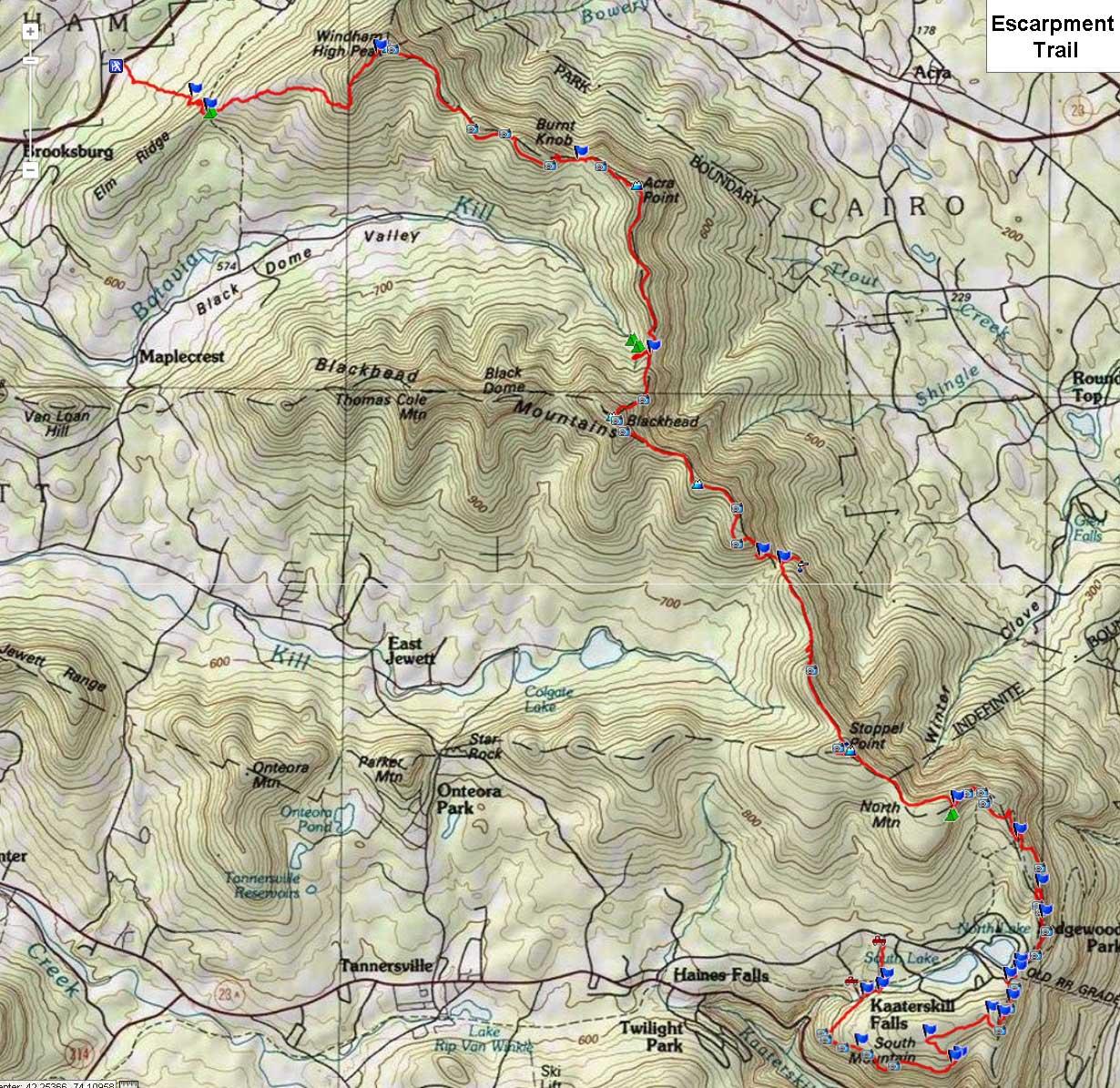 Eastern Escarpment Trail - Catskill Mountains on