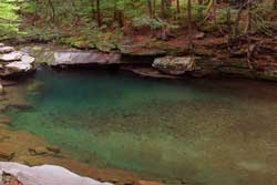 Blue Hole visitors must now obtain a permit prior to swimming at the Blue Hole