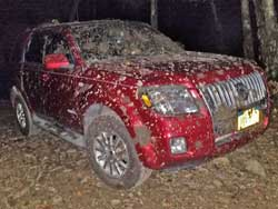 car vandalised at the vernoony kill falls parking aread in the catskill Mountain on September 24, 2018