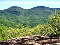 hikers stranded after dark on icy trail of blackhead mountin in the Catskill mountains.