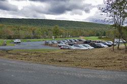 windham hight peak parking area has been enlarged to 40 cars on Rt 23 in the catskill Mountain