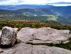 hiker breaks her ankle while hiking to Giant Ledge in the Catskill mountains on august 17, 2020.