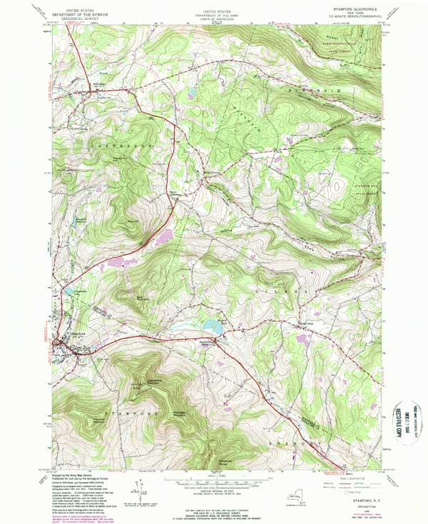 USGS Topo Map Stamford Catskill Mountains - Usgs quad maps